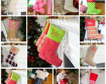 Personalized Christmas Stockings, Christmas Stockings, Holiday Stockings, Personalized Stockings, Holiday Decor