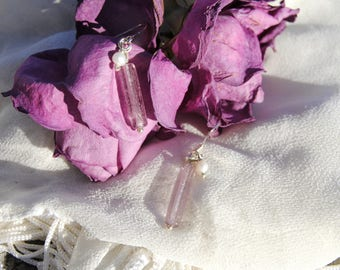 Lavender and Pearl Earrings