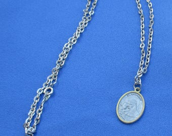 St Anthony Religious Medal Necklace Dove Olive Branch