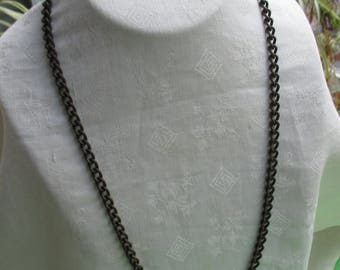 Vintage Chain Metal Necklace Needs Clasp Reattached Dark Patina