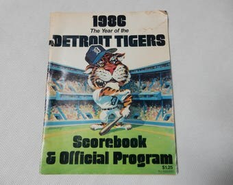 The Year of the Detroit Tigers, Scorebook and Official Program Tigers VS. Cleveland Indians 1986