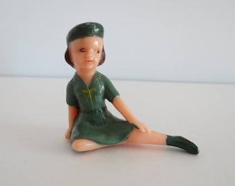 Wilton Girl Scout Cake Topper Vintage Figurine