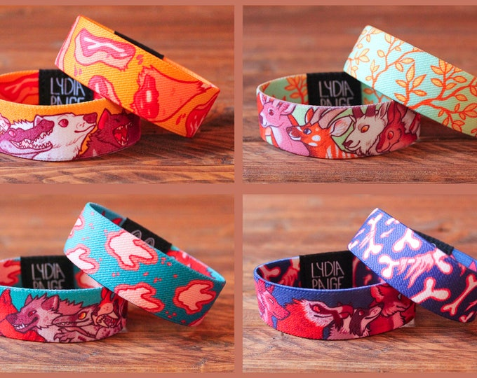 Fabric Bracelets - Set of 4