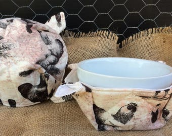 Country Chickens Microwave Bowl Cozy