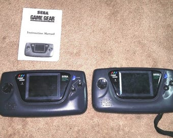 Vintage Set of 2 Sega Game Gear Hand Held Video Game Consoles