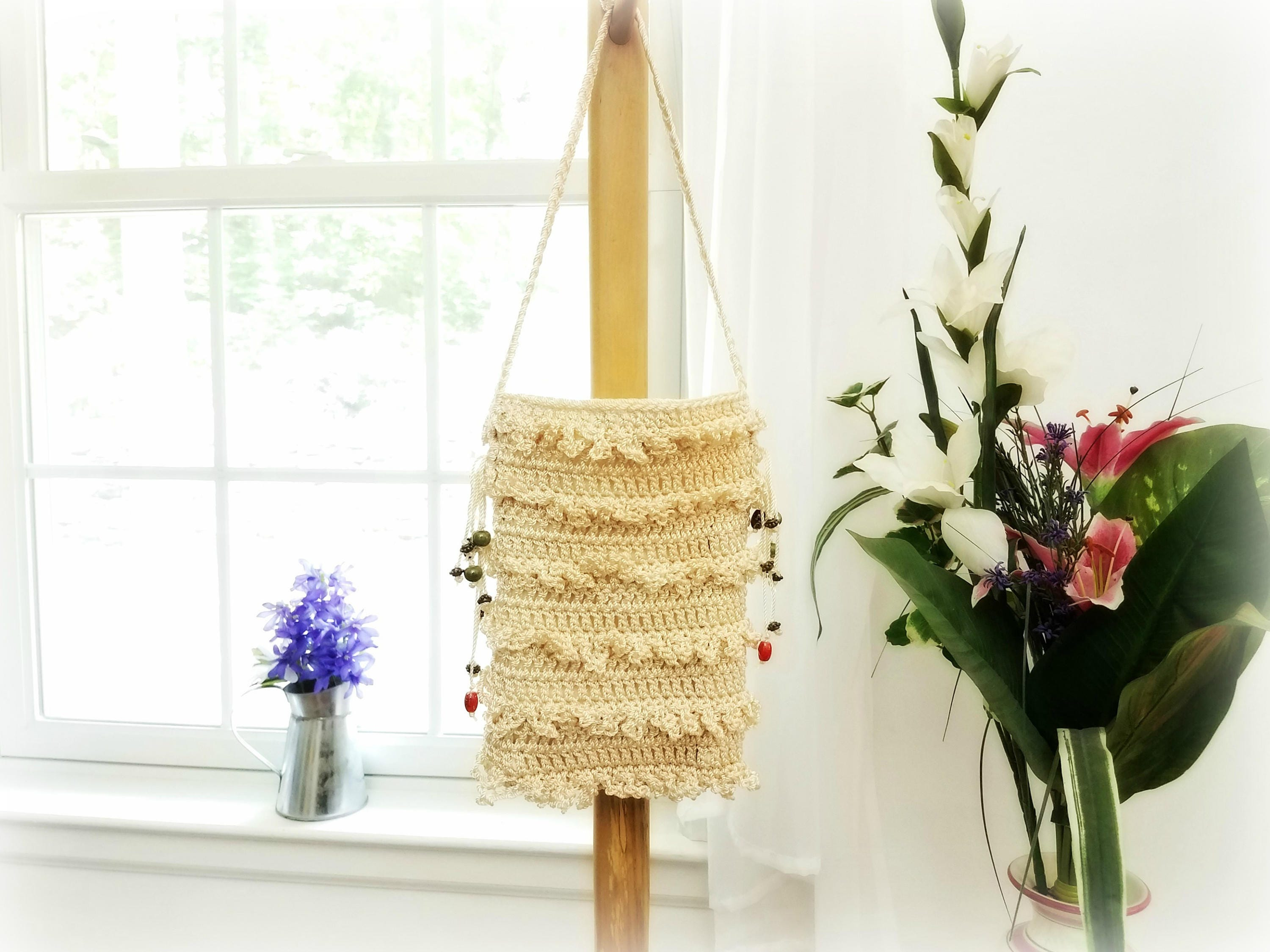 Ruffle crossbody purse by anne o 39 brien design crochet ruffle handbag champagne purse with - Lovely unique exterior design in a childcare with flashy interior ...