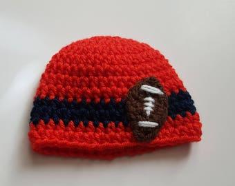 Preemie Football Hat/Preemie Football Beanie/Ready to Ship