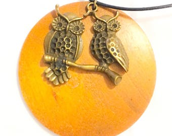 Who Are You ? Wooded Owl Necklace
