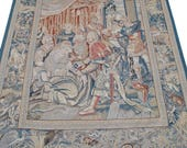 Large Antique Roman Themed Hand Sewn Tapestry 8' x 6', PA4622