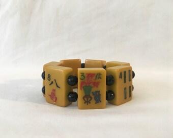 FLASH SALE Vintage 1950's Mahjong Bakelite Bracelet