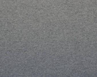 Sweatstoff 'FRENCH TERRY' light grey melange - 0, 5m