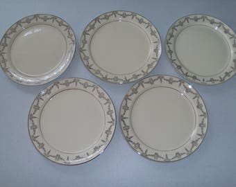 Taylor Smith & Taylor 1825 Set Of 5 Dinner/Lunch Plates