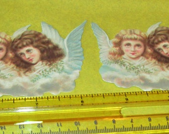 10 pcs Old Print Factory brand retro Victorian Easter Christmas Angels clouds heavy embossed paper die cuts scrap booking card making lot