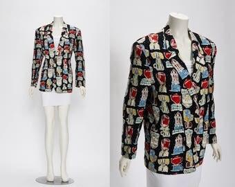 illustration jacket by Persons Co. vintage 1980s • Revival Vintage Boutique