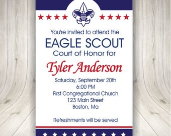 Eagle Scout Court of Honor Invites