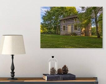 Log Cabin Photo - Cabin Wall Decor - Rustic Wall Decor - Canvas Art - Country Home Decor - Kentucky - Photography Canvas - Kentucky Wall Art