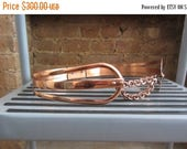 October Sale 1950s Renoir copper corset belt • size medium • modern mid century