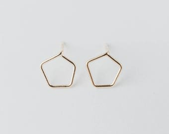 goldplated silver earrings