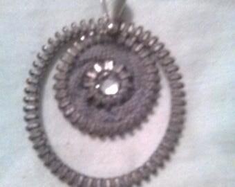 Handmade amazing Detail Swarovski Crystal Pendent