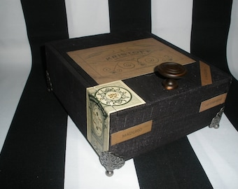 Kristoff Cigar Box Valet, Watch Box, Stash Box, Jewelry Box, Guy Gift, Groomsman Gift, Authentic, Tampa