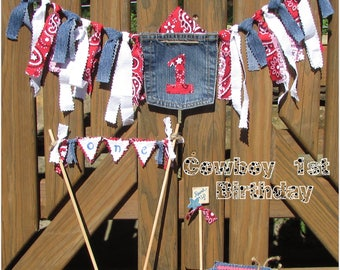 Cowboy 1st Birthday Party Pack, Cowboy First Birthday, Cowgirl 1st Birthday, Red White Blue 1st Birthday, Americana 1st Birthday,Country One