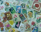 Flowers - 100 Postage Stamps with Flowers for Collecting, Art Projects,  Decoupage, Paper Crafts, Collage and More...