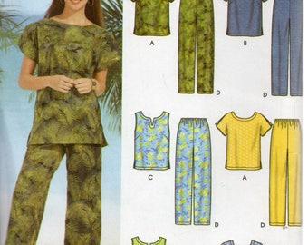 Simplicity 6 Made Easy Pattern 7236 TOPS PANTS SHORTS Women's 26W 28W 30W  32W