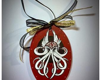 Cthulhu, Lovecraft, Sci-fi Hanging Holiday Ornament - Christmas ornament, Retro, Rockabilly