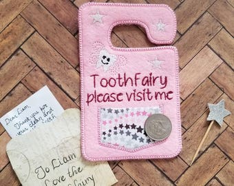 Tooth fairy door hanger