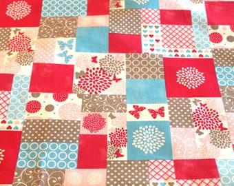 Coupon fabric patchwork butterflies 50 x 70 cm