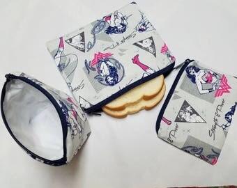 Reusable Sandwich Bag Set,Wonder Woman, Snack Bags,Food Bags Bags,Baggies,Reusable Food Bags,Lunch Baggies,Nylon Lining, Zipper Closure