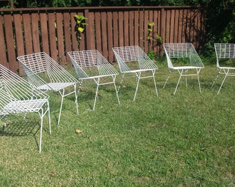Six Rare Patio Chairs by Verner Panton