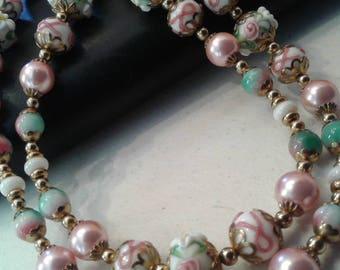Italian Glass Bead Necklace