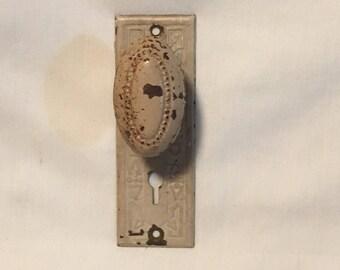 Antique Door Knob and Keyplate Wallhanger