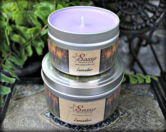 LAVENDER | Candle Tin (4 or 8 oz) | Sassy Kandle Co.