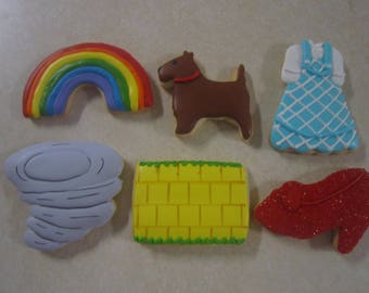 12 Wizard of Oz Fan Art Hand Decorated Cookies