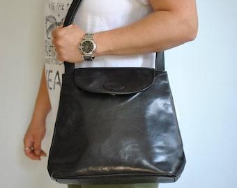 Vintage THE TREND leather handbag , women's leather shoulder bag.....(304)