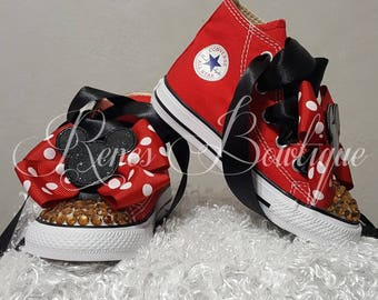 Minnie Converse Boutique Shoe | Minnie Mouse Birthday Outfit