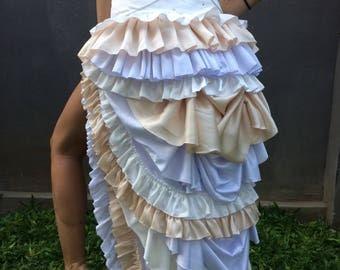 Bustle Skirt / gypsy goddess / steam punk / festival / burning man / costume
