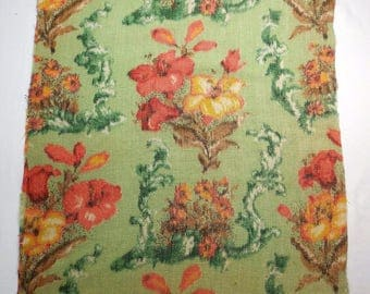 French vintage fabric, Autumnal colours, floral