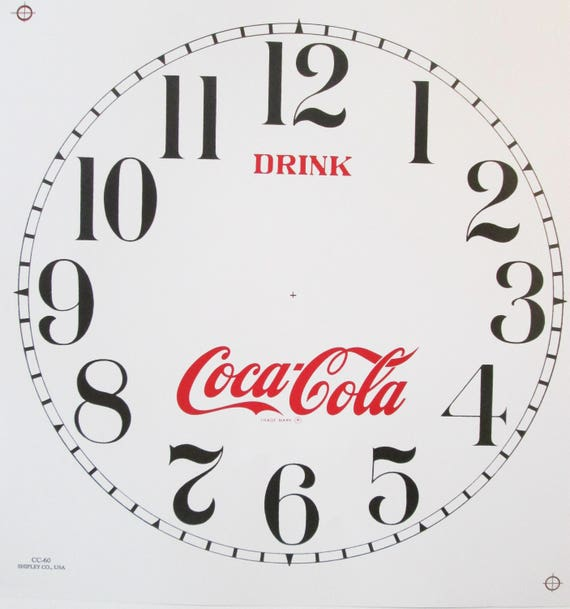 coca cola clock sallys clock hands