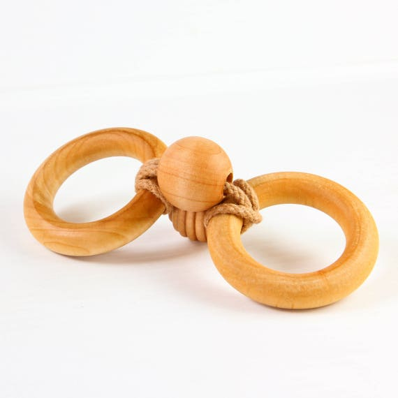INFINITY TEETHER™ - Organic Wooden Teether - Fine Motor Toy - Natural Baby - Wooden Toys