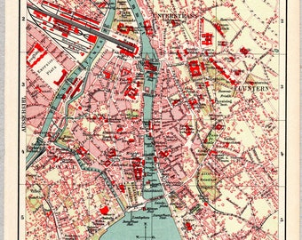 Vintage map of Zurich from 1903 #00210