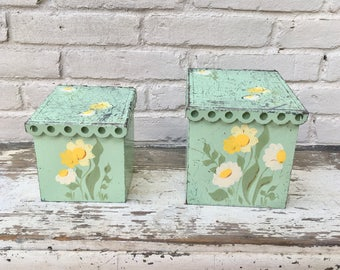Metal Green Canisters