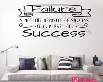 Failure Is Part Of Success   Inspiring Quote Removable Vinyl Wall Art  Stickers Motivational Decal Bedroom Part 93
