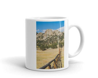 Mug - Red Silo Original Art - Granite Mountain Fence Line