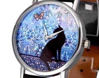 Cat Watch Snap Button 18 mm