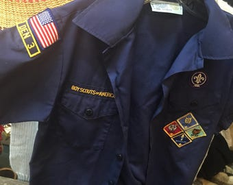 BOY SCOUT shirt with patches, vintage