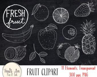 Fruit Clipart, Fruit Illustrations, Hand Drawn, Fruit, Product, Market, Clipart, Digital Stamps, Digital Scrapbook, DIY Card