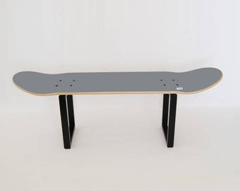 Skateboard foot stepper, stool or side table, perfect gift idea for skateboarders to decorate bedroom - Gray